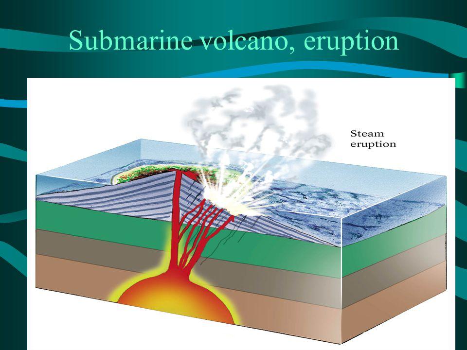 Submarine volcano, eruption