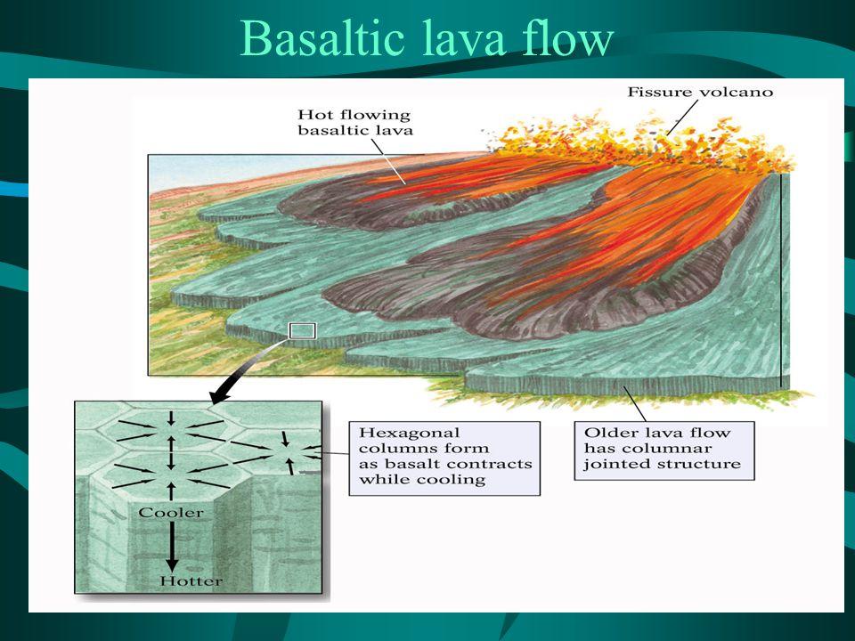 Basaltic lava flow