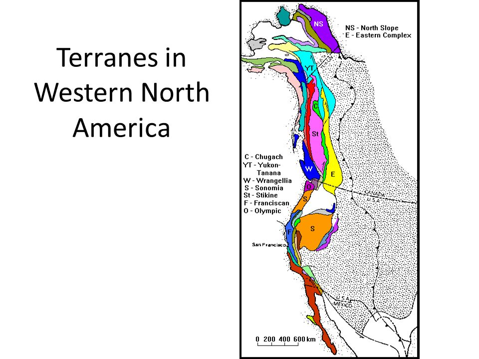 Terranes in Western North America