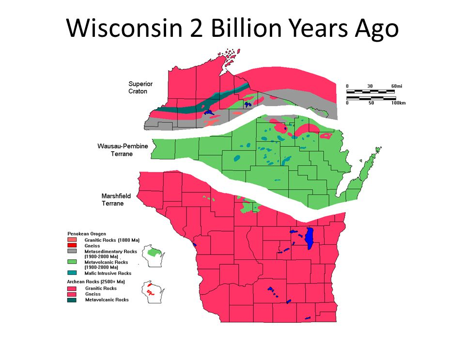 Wisconsin 2 Billion Years Ago