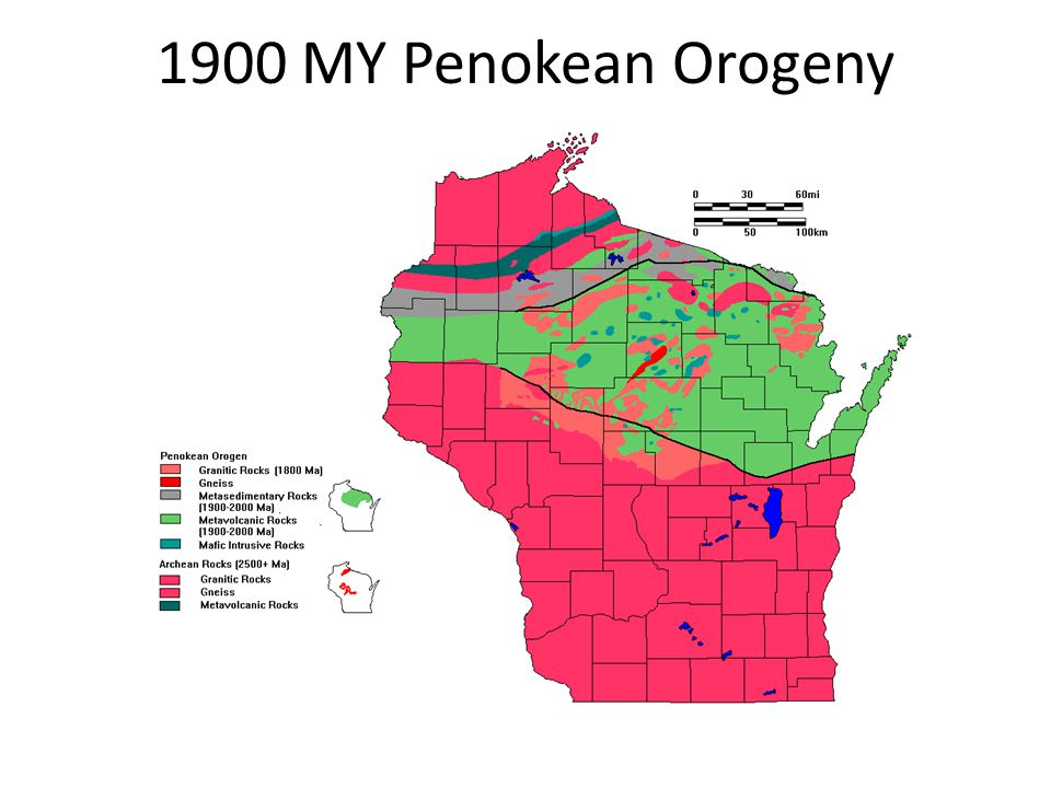 1900 MY Penokean Orogeny
