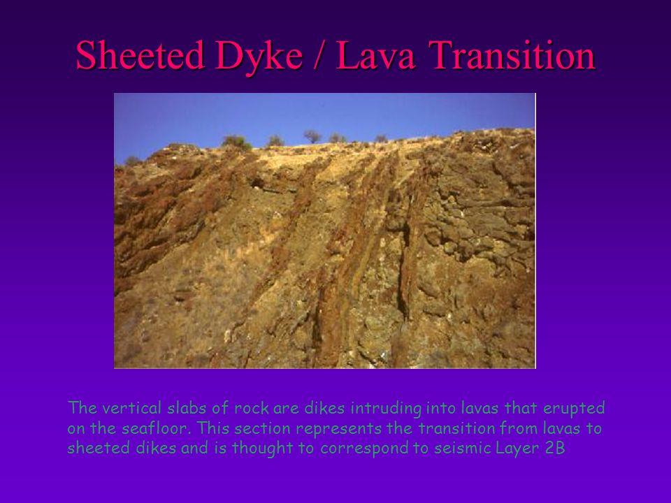 Sheeted Dyke / Lava Transition