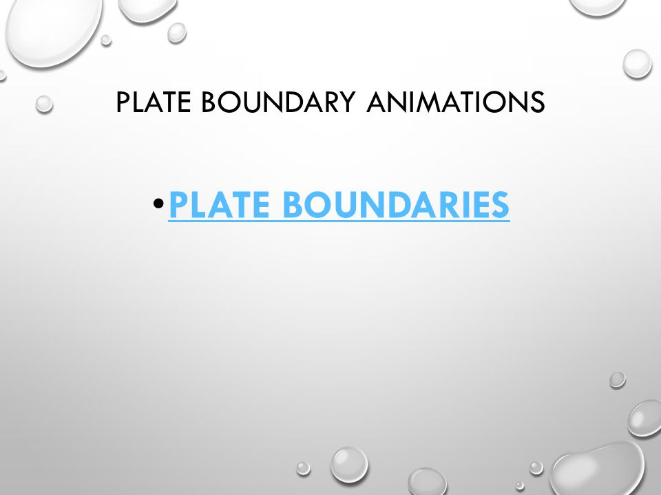 Plate Boundary animations