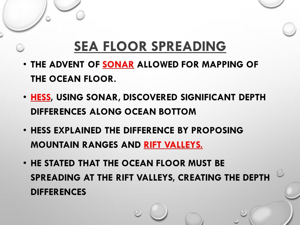 Sea Floor Spreading And Continental Drift