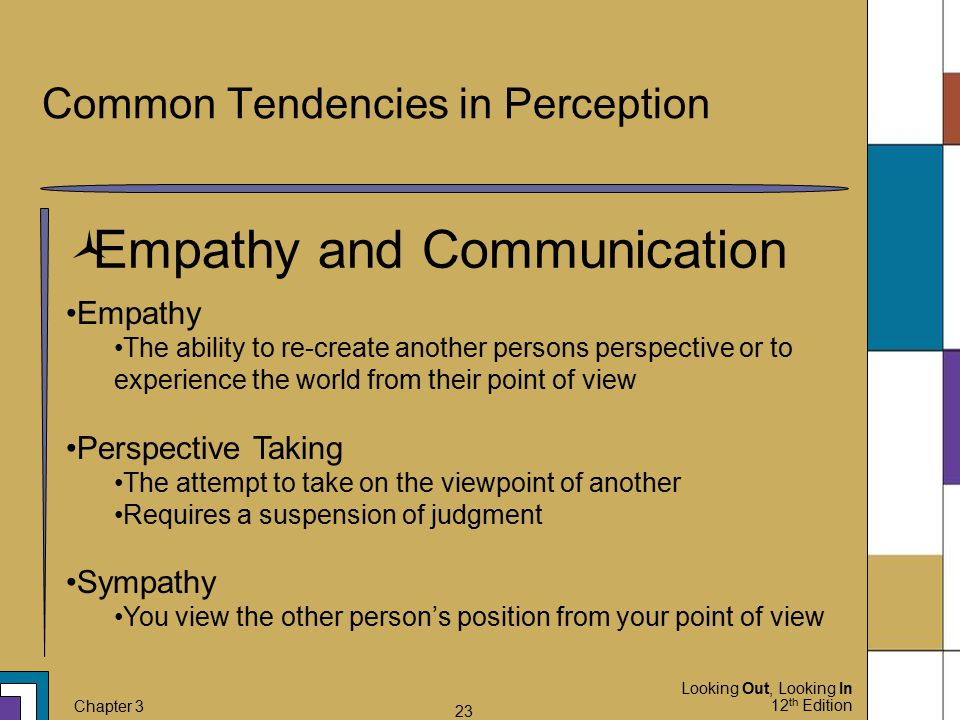 Common Tendencies in Perception