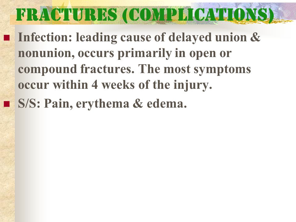 Fractures (Complications)