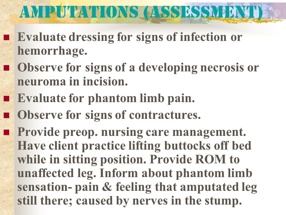 Amputations (Assessment)