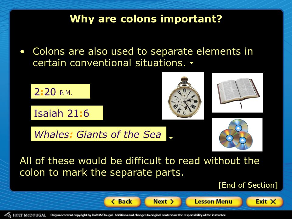 Why are colons important
