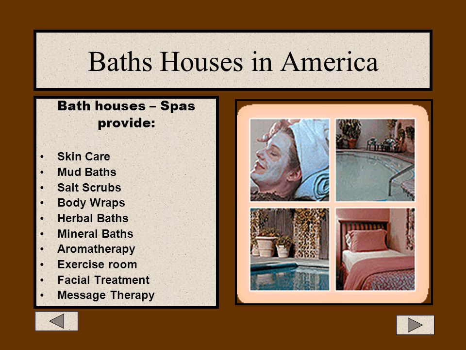 Baths Houses in America
