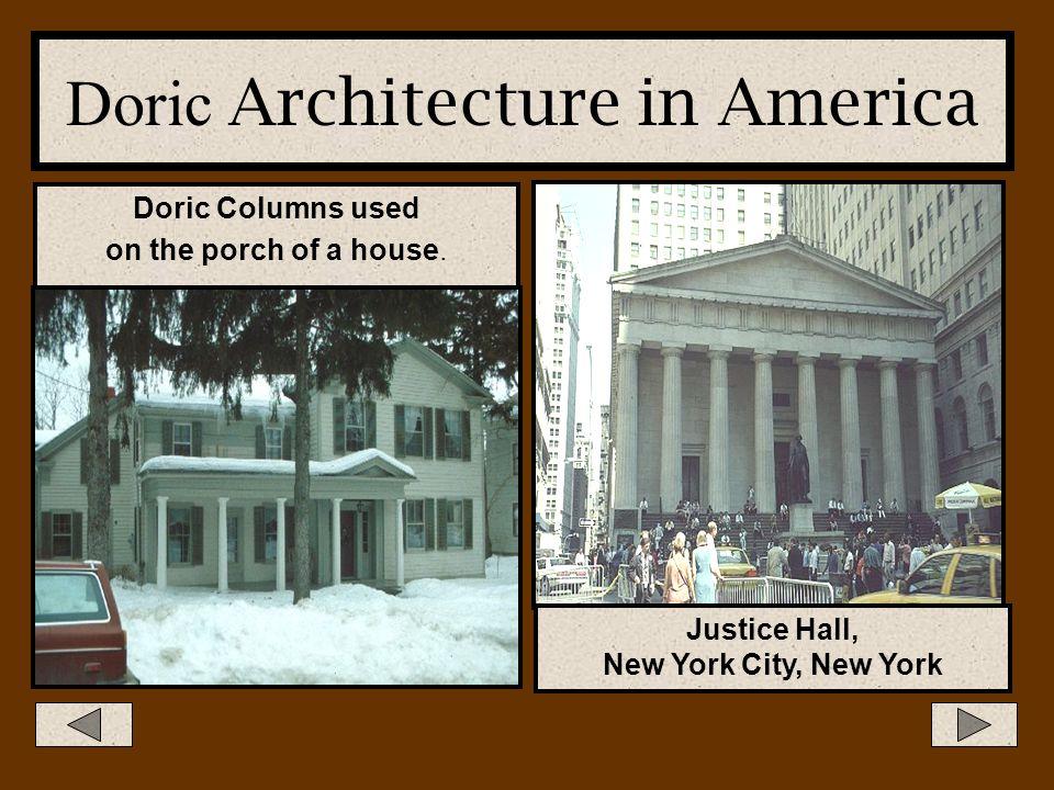 Doric Architecture in America