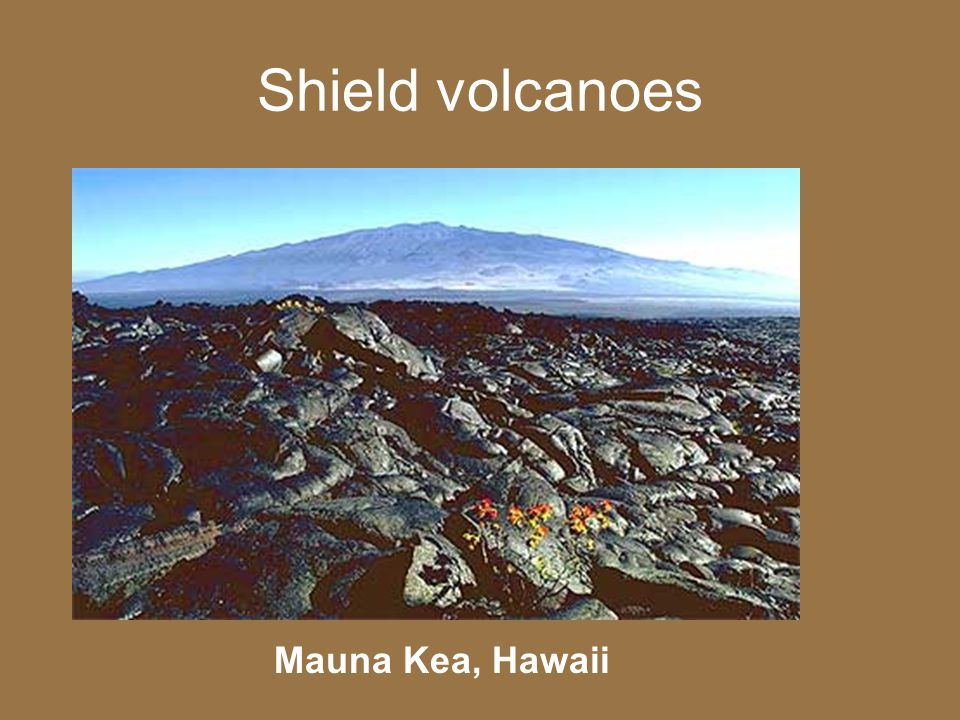 Shield volcanoes Mauna Kea, Hawaii