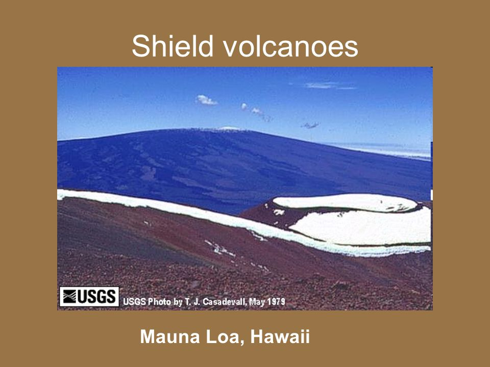 Shield volcanoes Mauna Loa, Hawaii