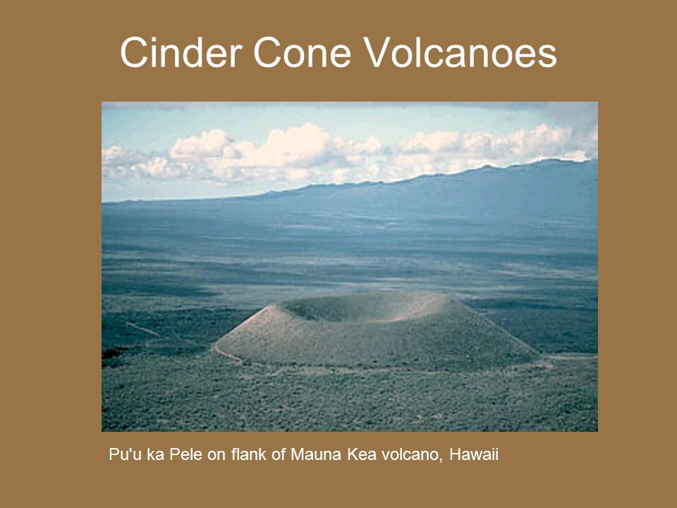 Cinder Cone Volcanoes Pu u ka Pele on flank of Mauna Kea volcano, Hawaii
