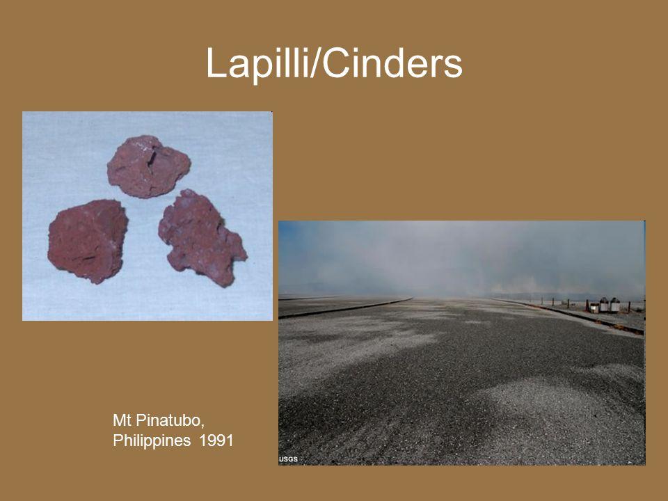 Lapilli/Cinders Mt Pinatubo, Philippines 1991