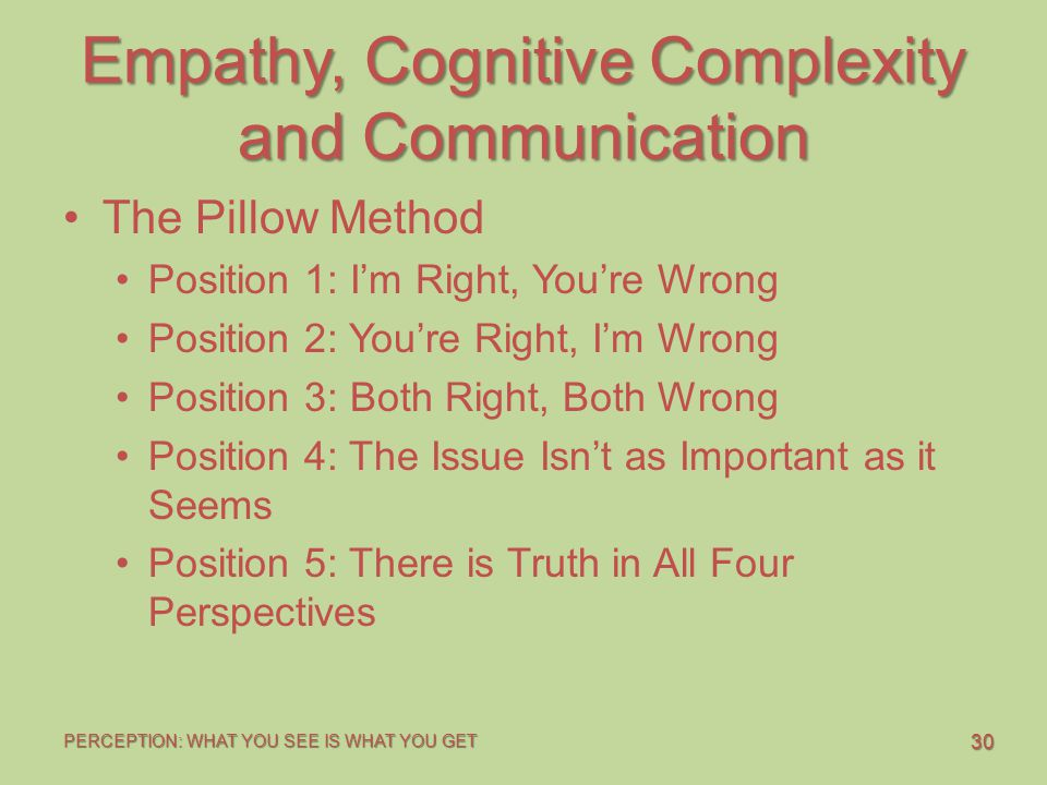 Empathy, Cognitive Complexity and Communication