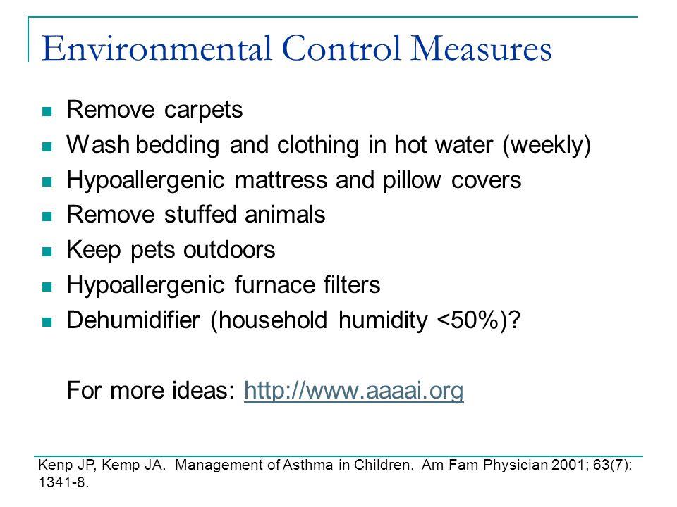 Environmental Control Measures
