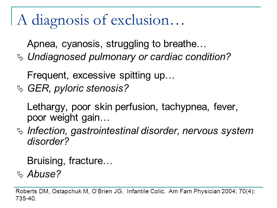 A diagnosis of exclusion…