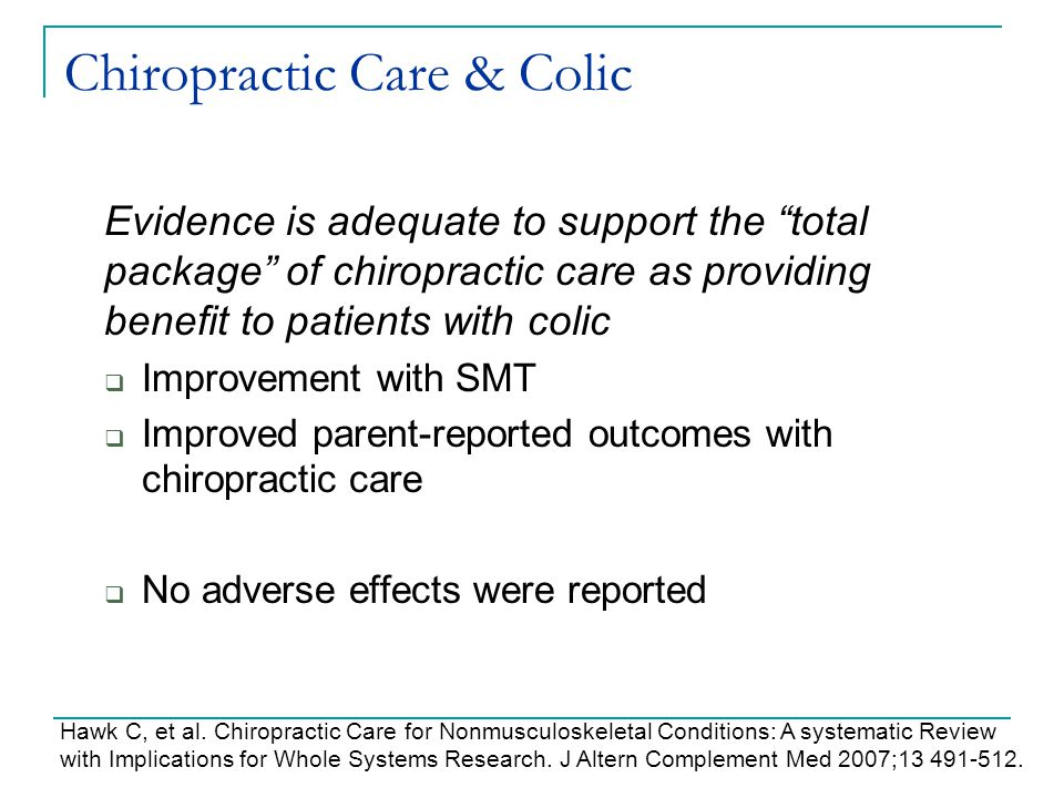 Chiropractic Care & Colic