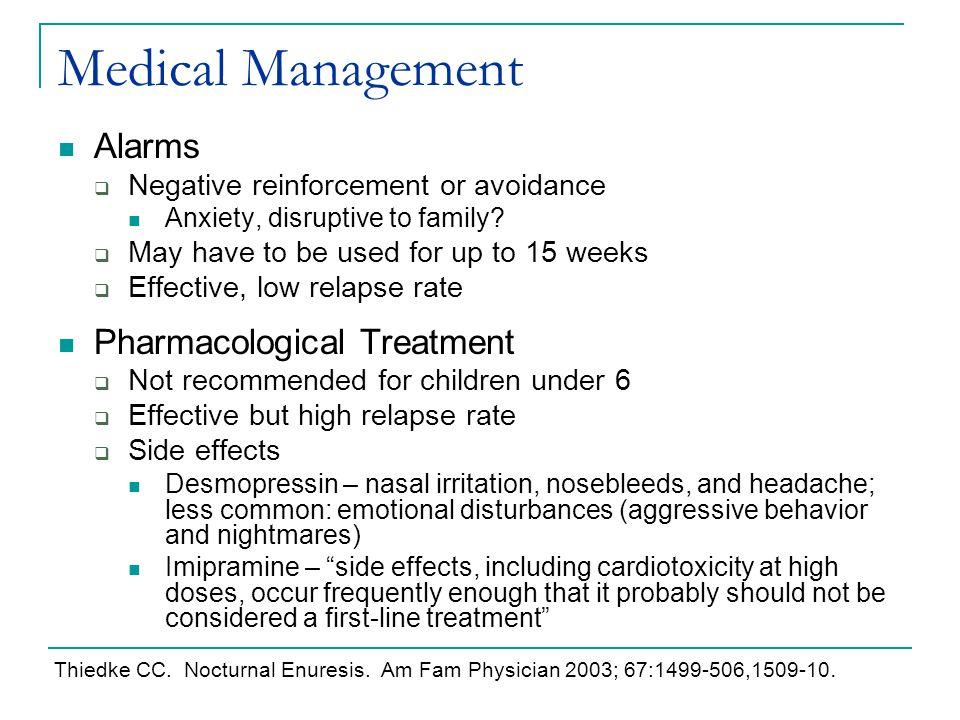 Medical Management Alarms Pharmacological Treatment