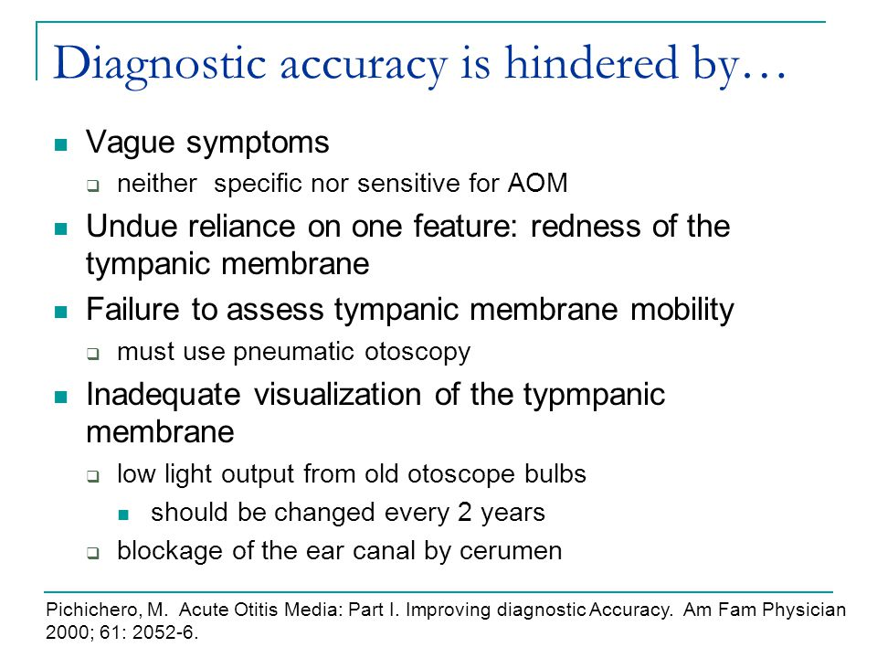 Diagnostic accuracy is hindered by…
