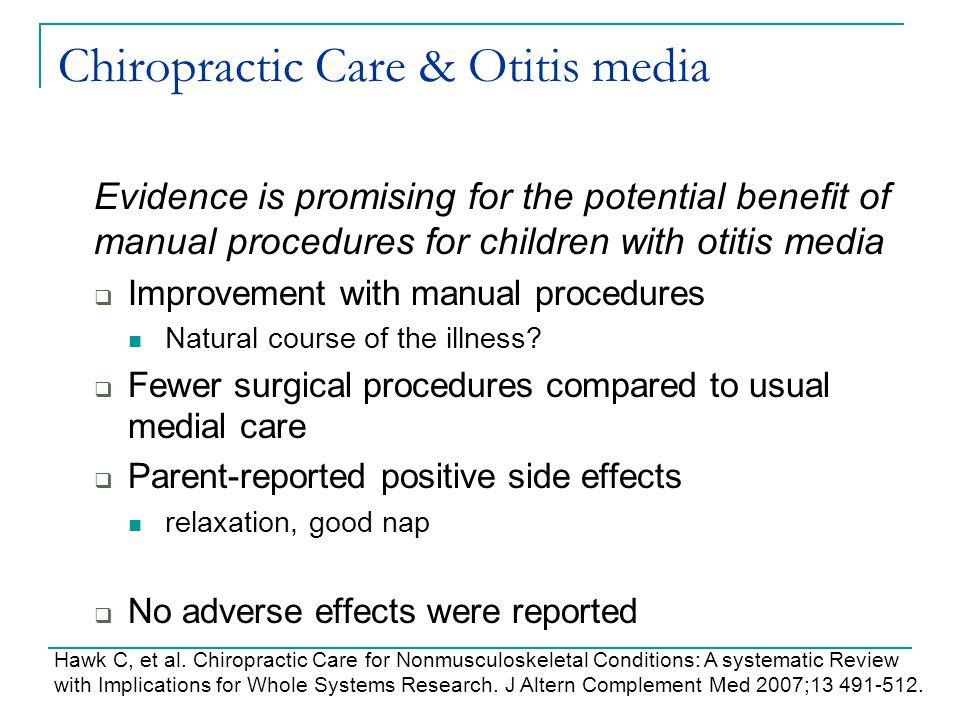 Chiropractic Care & Otitis media