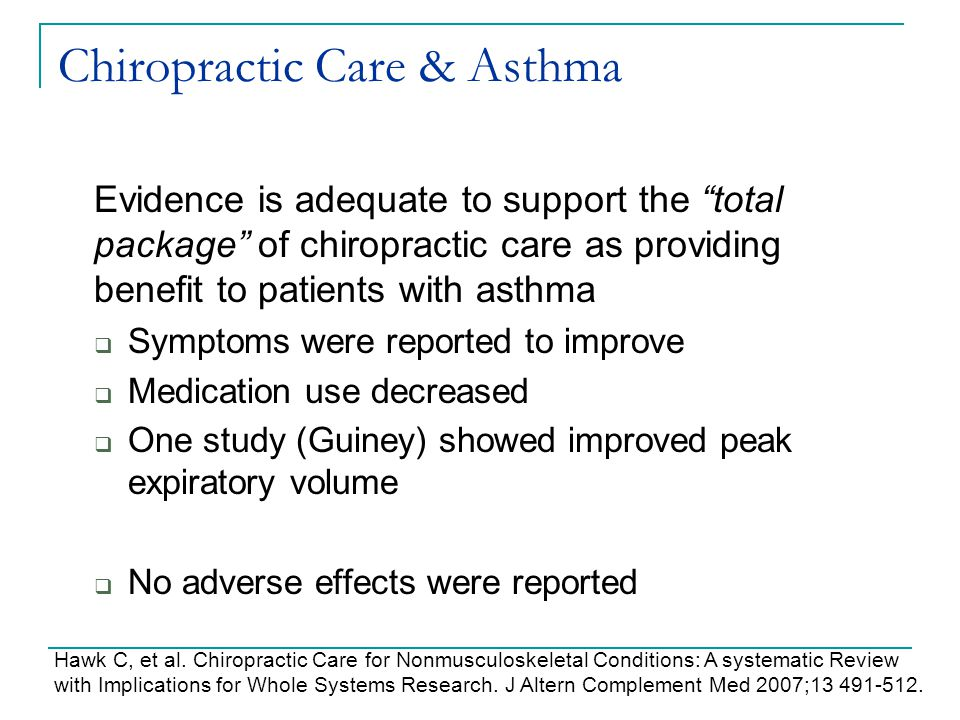 Chiropractic Care & Asthma