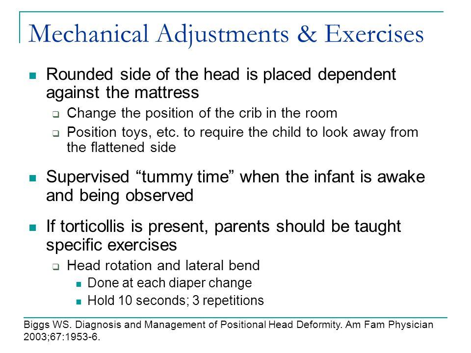 Mechanical Adjustments & Exercises