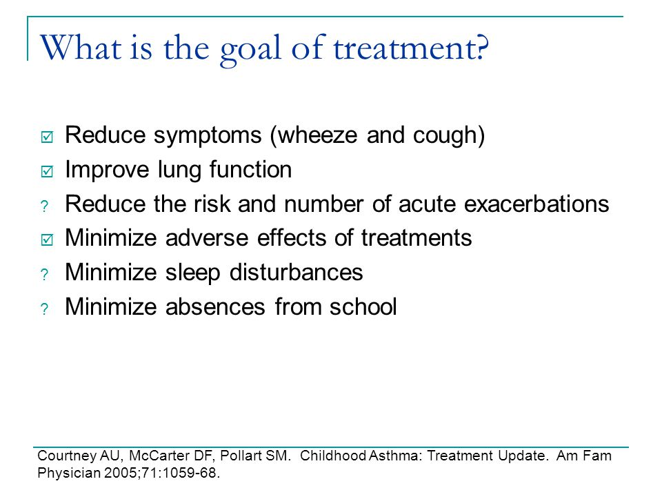 What is the goal of treatment