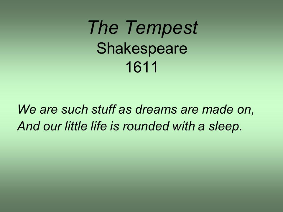 The Tempest Shakespeare 1611