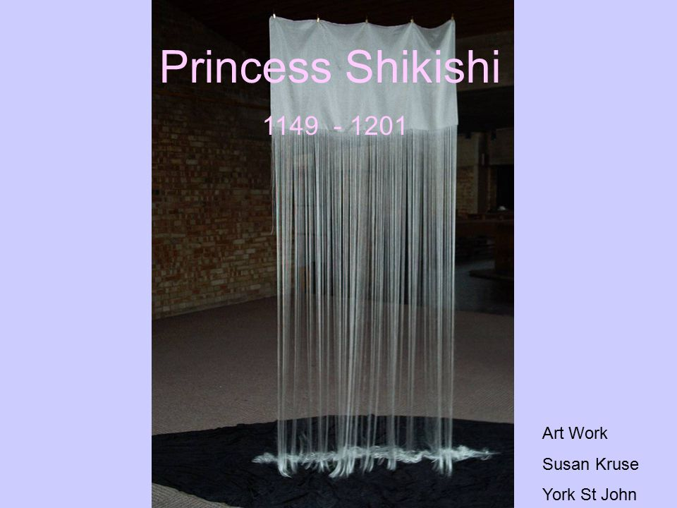 Princess Shikishi 1149 - 1201 Art Work Susan Kruse York St John