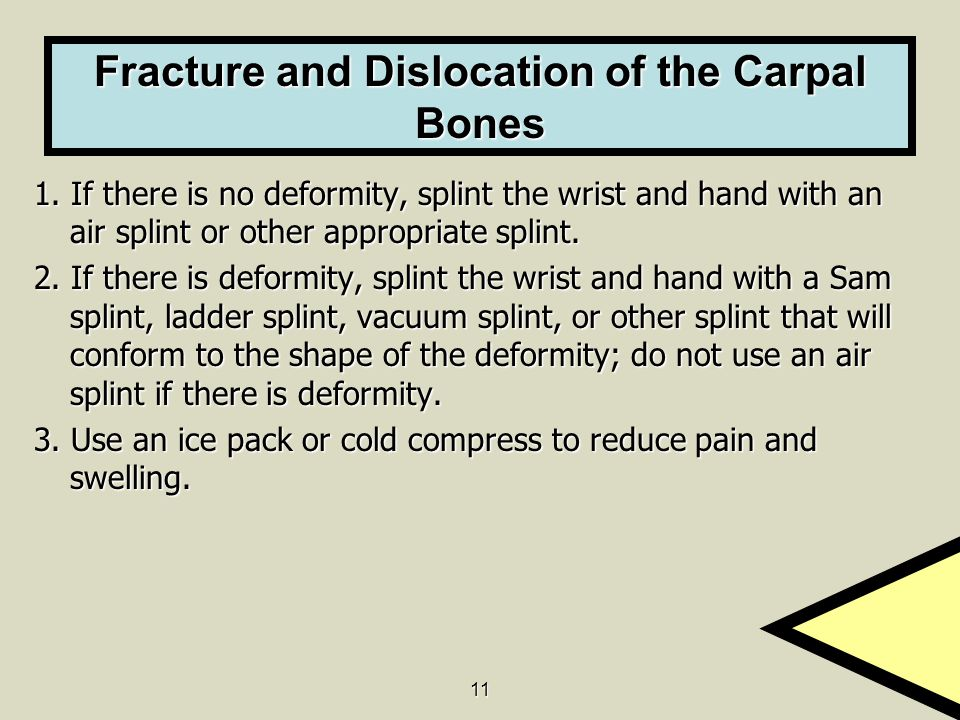 Fracture and Dislocation of the Carpal Bones