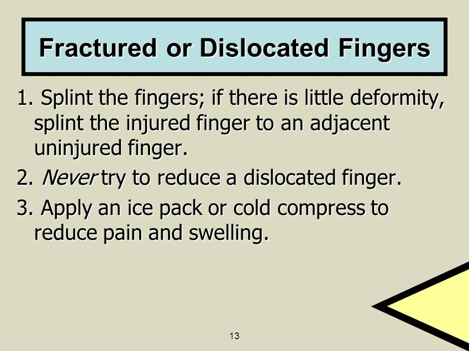 Fractured or Dislocated Fingers