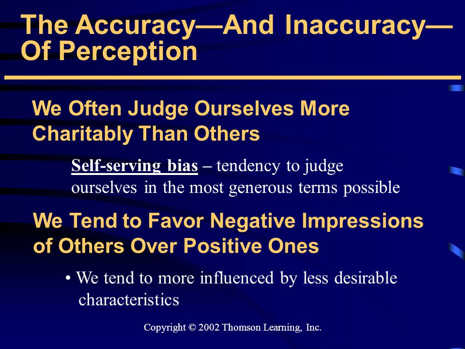 The Accuracy—And Inaccuracy— Of Perception