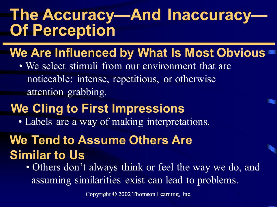 accuracy or inaccuracy of sensory perceptions And the inner sense of self-motion has received study for over  accuracy (direct  correspondence between the perceived and  flow rates, the enhanced  precision would be of use to them, whereas the net inaccuracy is of no  consequence.