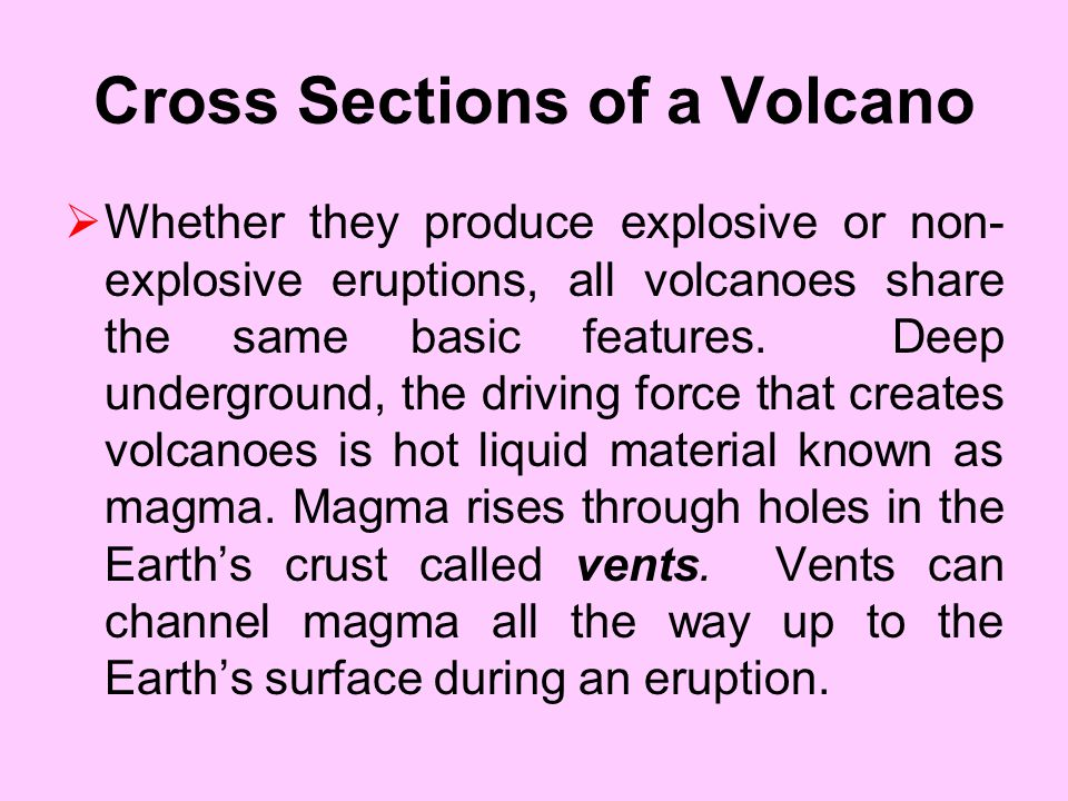 Cross Sections of a Volcano