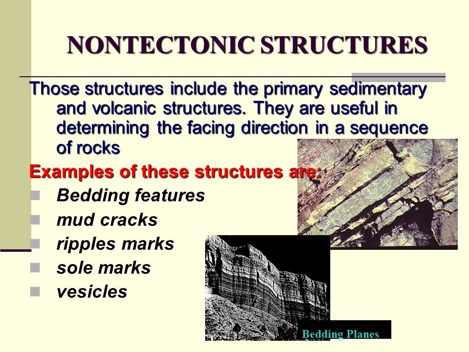NONTECTONIC STRUCTURES