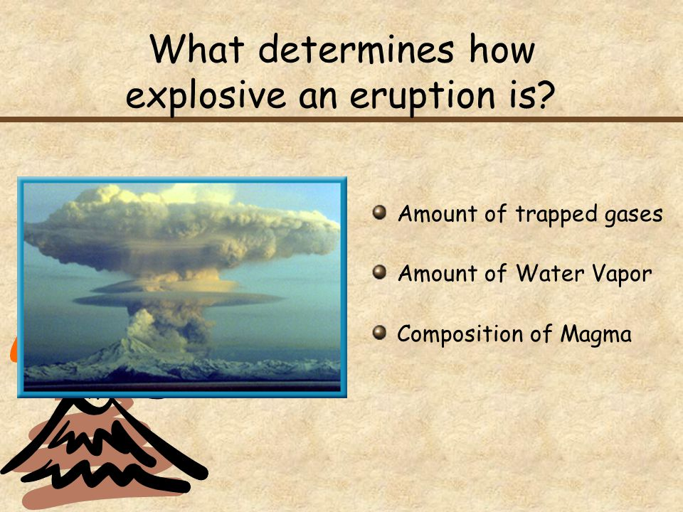 What determines how explosive an eruption is