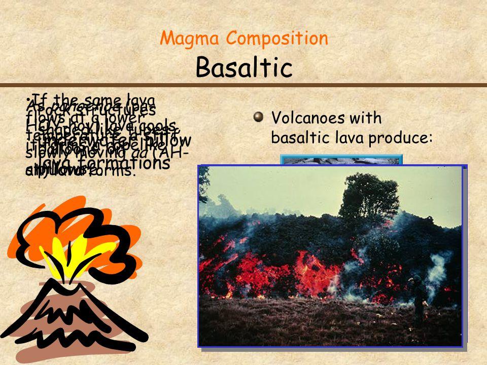 Magma Composition Basaltic