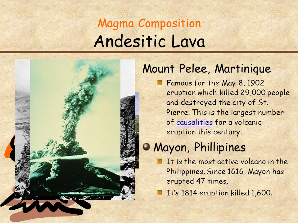Magma Composition Andesitic Lava