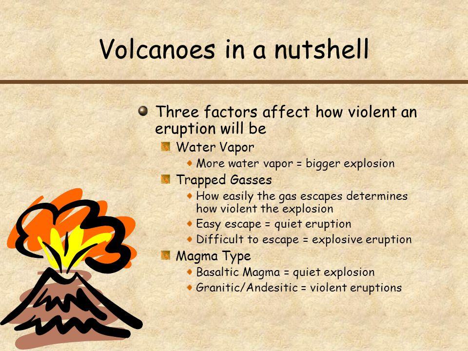 Volcanoes in a nutshell