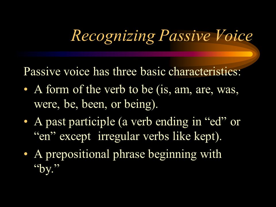 Recognizing Passive Voice