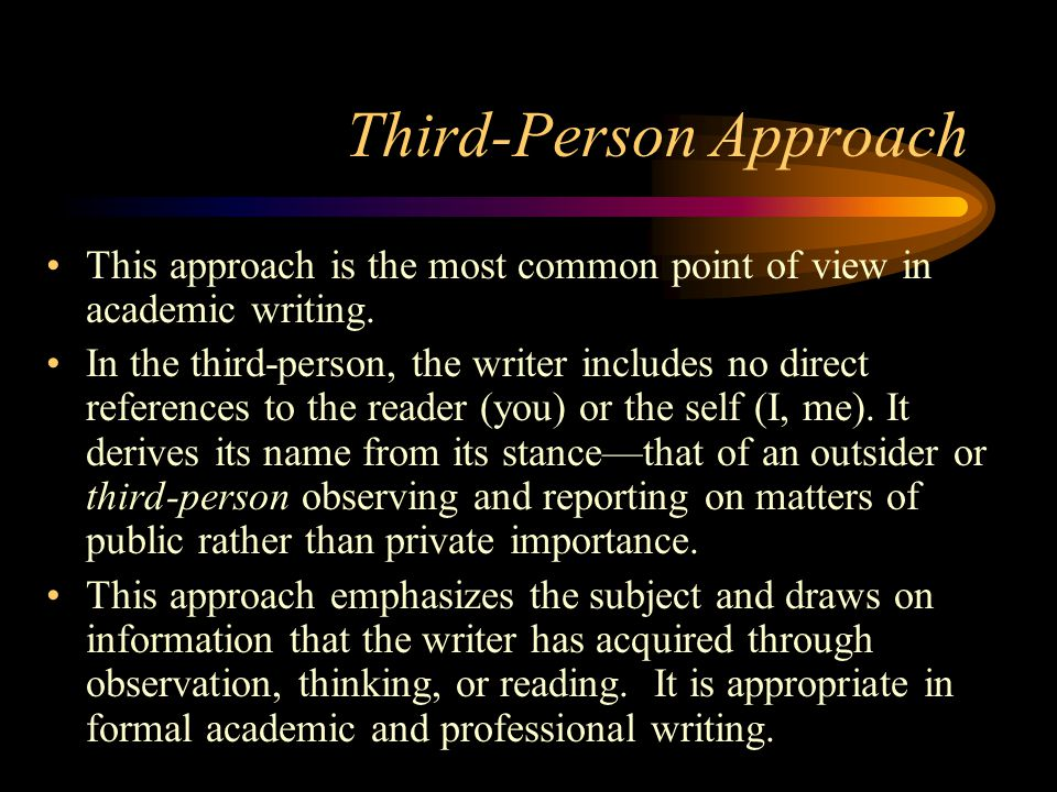 Third-Person Approach