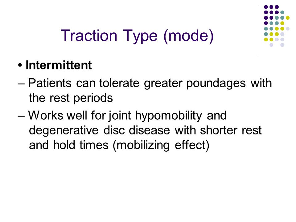 Traction Type (mode) • Intermittent