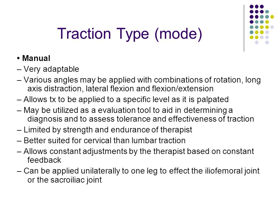 Traction Type (mode) • Manual – Very adaptable