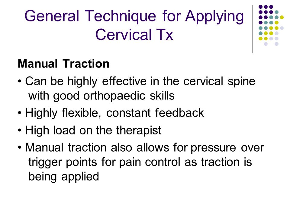 General Technique for Applying Cervical Tx