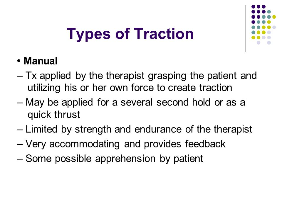 Types of Traction • Manual