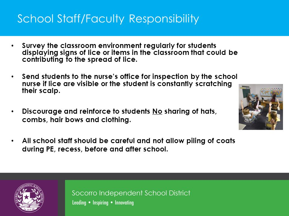 School Staff/Faculty Responsibility