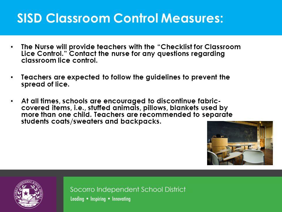 SISD Classroom Control Measures: