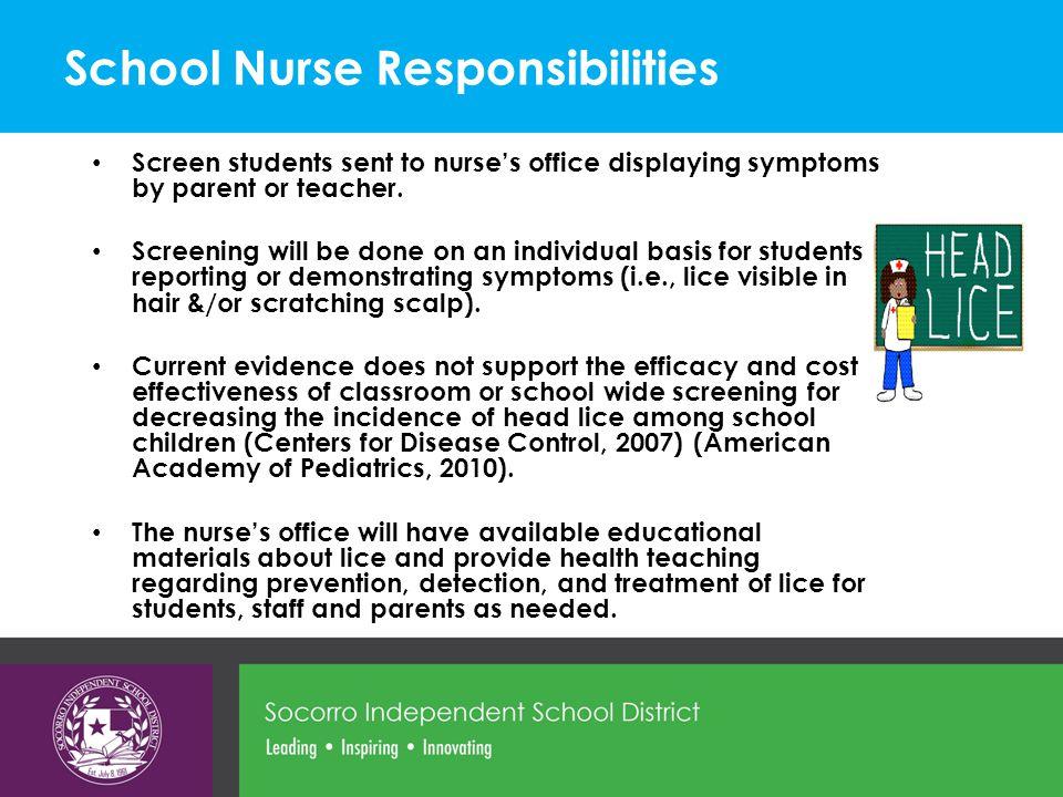 School Nurse Responsibilities