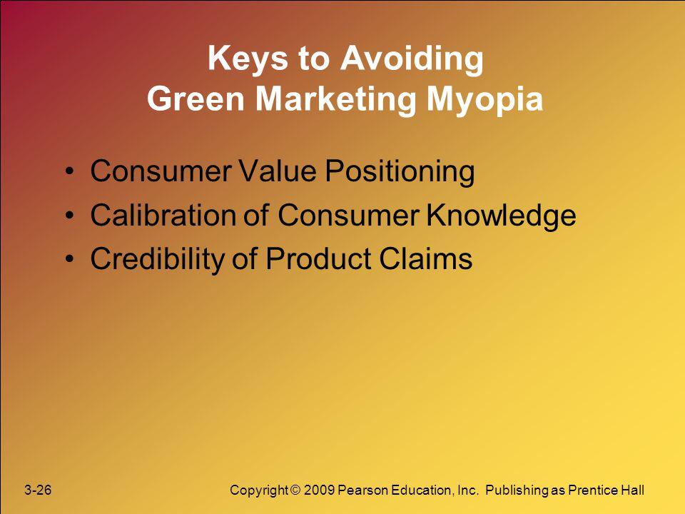 Keys to Avoiding Green Marketing Myopia